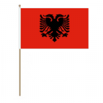 Albania Country Hand Flag - Large